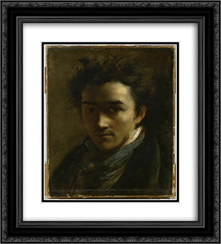 Colin Alexander, painter 20x22 Black or Gold Ornate Framed and Double Matted Art Print by Theodore Gericault