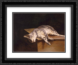 Dead Cat 24x20 Black or Gold Ornate Framed and Double Matted Art Print by Theodore Gericault