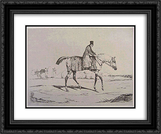 English Jockey 24x20 Black or Gold Ornate Framed and Double Matted Art Print by Theodore Gericault