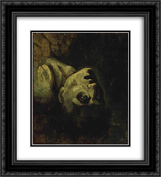 Head of a Drowned Man 20x22 Black or Gold Ornate Framed and Double Matted Art Print by Theodore Gericault