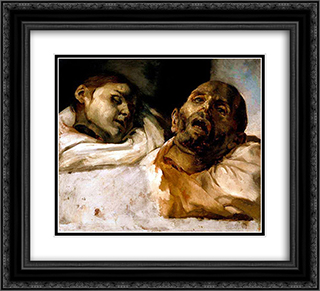 Heads of Torture Victims (study for The Raft of the Medusa) 22x20 Black or Gold Ornate Framed and Double Matted Art Print by Theodore Gericault