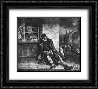 Man on the street 22x20 Black or Gold Ornate Framed and Double Matted Art Print by Theodore Gericault