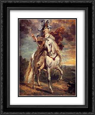 Marie de Medici at Pont-de-Ce 20x24 Black or Gold Ornate Framed and Double Matted Art Print by Theodore Gericault