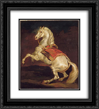 Napoleon's Stallion, Tamerlan 20x22 Black or Gold Ornate Framed and Double Matted Art Print by Theodore Gericault