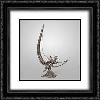 Cradle Song 20x20 Black or Gold Ornate Framed and Double Matted Art Print by Theodore Roszak