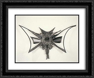 Exploding Star 24x20 Black or Gold Ornate Framed and Double Matted Art Print by Theodore Roszak