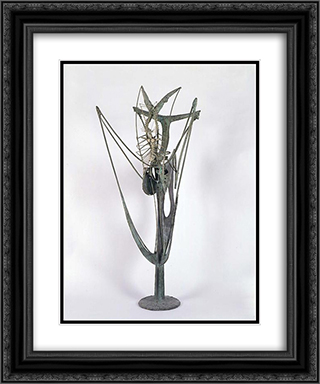 Insect Plant 20x24 Black or Gold Ornate Framed and Double Matted Art Print by Theodore Roszak