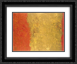 Aristo I 24x20 Black or Gold Ornate Framed and Double Matted Art Print by Theodoros Stamos