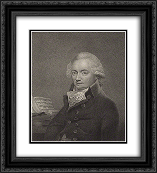 Johann Peter Salomon 20x22 Black or Gold Ornate Framed and Double Matted Art Print by Thomas Hardy