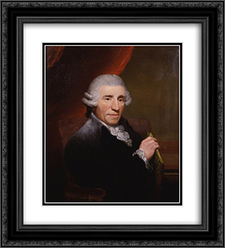 Joseph Haydn 20x22 Black or Gold Ornate Framed and Double Matted Art Print by Thomas Hardy