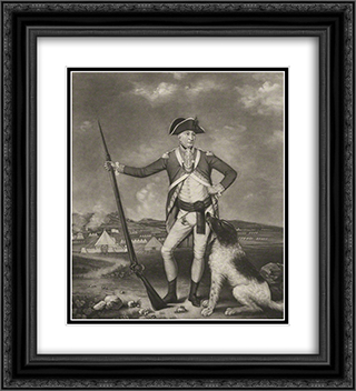 Sir Richard Whitworth in camp at Winchester 20x22 Black or Gold Ornate Framed and Double Matted Art Print by Thomas Hardy