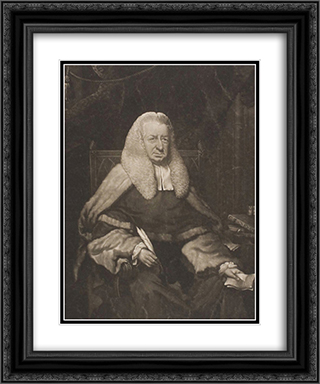 The Honorable Sir Henry Gould 20x24 Black or Gold Ornate Framed and Double Matted Art Print by Thomas Hardy