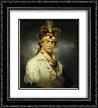 William Augustus Bowles 20x22 Black or Gold Ornate Framed and Double Matted Art Print by Thomas Hardy