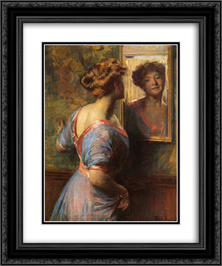 A Passing Glance 20x24 Black or Gold Ornate Framed and Double Matted Art Print by Thomas Pollock Anshutz