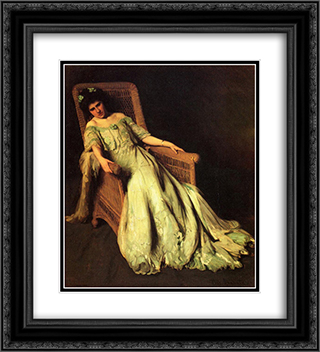 Figurepiece 20x22 Black or Gold Ornate Framed and Double Matted Art Print by Thomas Pollock Anshutz