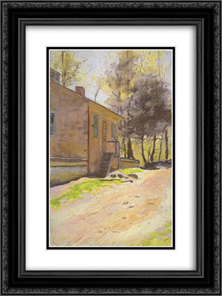 Pennsylvania Scene 18x24 Black or Gold Ornate Framed and Double Matted Art Print by Thomas Pollock Anshutz