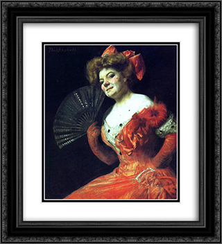 Portrait of Katharine Rice 20x22 Black or Gold Ornate Framed and Double Matted Art Print by Thomas Pollock Anshutz