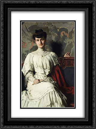 Portrait of Marthe Hientz 18x24 Black or Gold Ornate Framed and Double Matted Art Print by Thomas Pollock Anshutz