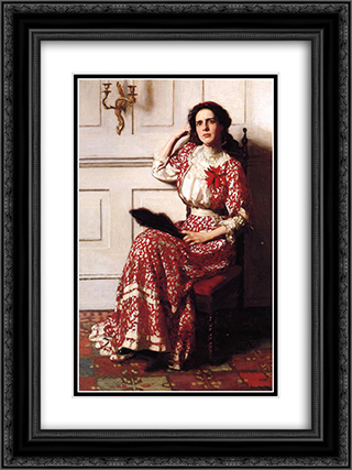 Portrait of Rebecca H. Whelan 18x24 Black or Gold Ornate Framed and Double Matted Art Print by Thomas Pollock Anshutz