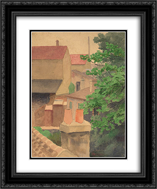 Rooftops, St. Cloud 20x24 Black or Gold Ornate Framed and Double Matted Art Print by Thomas Pollock Anshutz