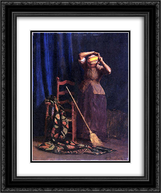 The Chore 20x24 Black or Gold Ornate Framed and Double Matted Art Print by Thomas Pollock Anshutz
