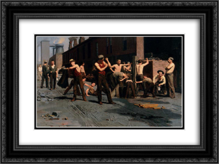 The Ironworkers' Noontime 24x18 Black or Gold Ornate Framed and Double Matted Art Print by Thomas Pollock Anshutz