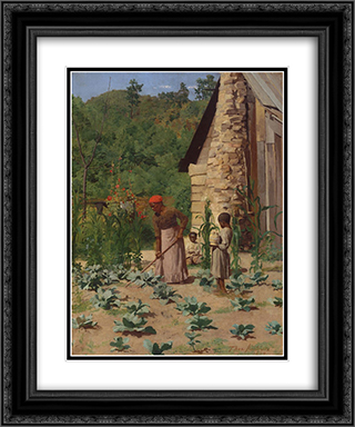 The Way They Live 20x24 Black or Gold Ornate Framed and Double Matted Art Print by Thomas Pollock Anshutz