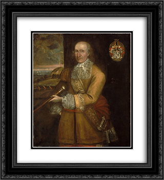 Portrait of Major Thomas Savage 20x22 Black or Gold Ornate Framed and Double Matted Art Print by Thomas Smith