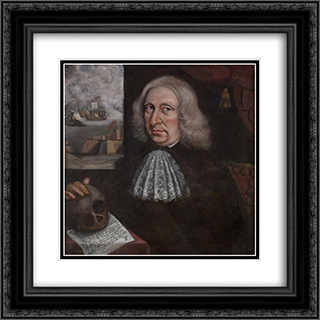 Self-Portrait 20x20 Black or Gold Ornate Framed and Double Matted Art Print by Thomas Smith