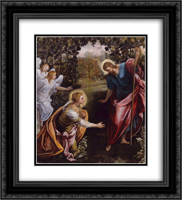 Do not touch me 20x22 Black or Gold Ornate Framed and Double Matted Art Print by Tintoretto