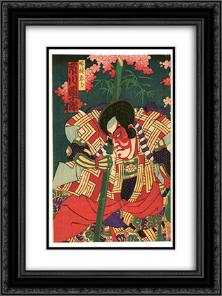 Beauty, Ghost and Hero 18x24 Black or Gold Ornate Framed and Double Matted Art Print by Toyohara Chikanobu