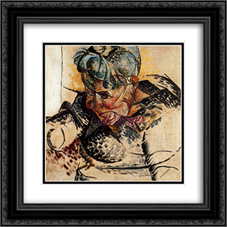 Abstract Dimensions 20x20 Black or Gold Ornate Framed and Double Matted Art Print by Umberto Boccioni