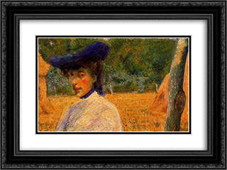Adriana Bisi Fabbri 24x18 Black or Gold Ornate Framed and Double Matted Art Print by Umberto Boccioni