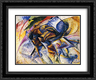 Dynamism of a Cyclist 24x20 Black or Gold Ornate Framed and Double Matted Art Print by Umberto Boccioni