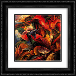 Dynamism of a Human Body 20x20 Black or Gold Ornate Framed and Double Matted Art Print by Umberto Boccioni