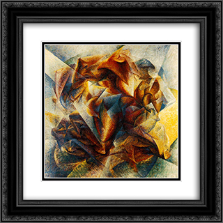 Dynamism of a soccer player 20x20 Black or Gold Ornate Framed and Double Matted Art Print by Umberto Boccioni