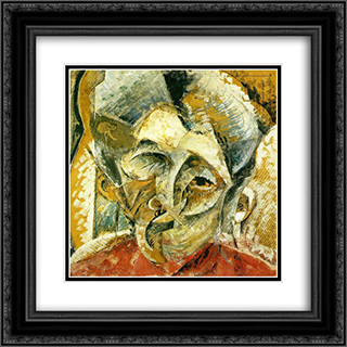 Dynamism of a Woman's Head 20x20 Black or Gold Ornate Framed and Double Matted Art Print by Umberto Boccioni