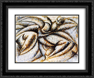 Dynamism of the Human Body 24x20 Black or Gold Ornate Framed and Double Matted Art Print by Umberto Boccioni