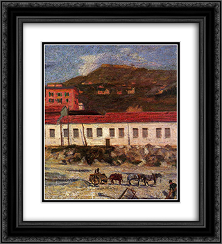 Factory Foltzer 20x22 Black or Gold Ornate Framed and Double Matted Art Print by Umberto Boccioni