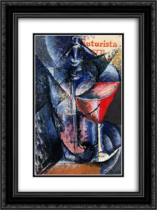 Glass and Syphon 18x24 Black or Gold Ornate Framed and Double Matted Art Print by Umberto Boccioni
