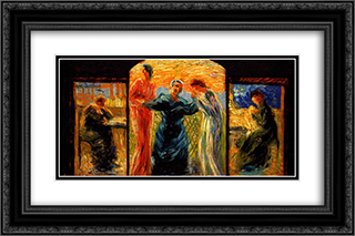 Homage to Mother 24x16 Black or Gold Ornate Framed and Double Matted Art Print by Umberto Boccioni
