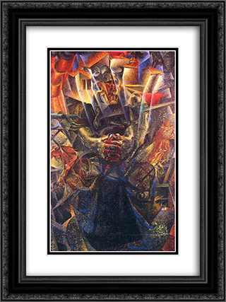 Materia 18x24 Black or Gold Ornate Framed and Double Matted Art Print by Umberto Boccioni