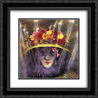 Modern Idol 20x20 Black or Gold Ornate Framed and Double Matted Art Print by Umberto Boccioni