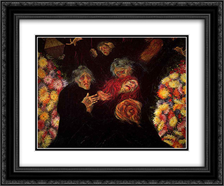 Mourning 24x20 Black or Gold Ornate Framed and Double Matted Art Print by Umberto Boccioni