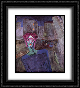 Nocturne 20x22 Black or Gold Ornate Framed and Double Matted Art Print by Umberto Boccioni