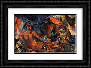 Nude (complementary model of form-color) 24x18 Black or Gold Ornate Framed and Double Matted Art Print by Umberto Boccioni