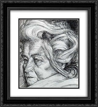 The Mother 20x22 Black or Gold Ornate Framed and Double Matted Art Print by Umberto Boccioni
