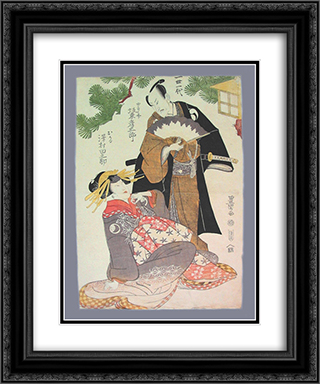 Chushingura scene 20x24 Black or Gold Ornate Framed and Double Matted Art Print by Utagawa Toyokuni