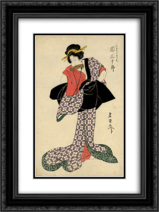 Seki Sanjuro 18x24 Black or Gold Ornate Framed and Double Matted Art Print by Utagawa Toyokuni