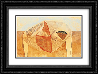 Ancestral Nature 24x18 Black or Gold Ornate Framed and Double Matted Art Print by Vajda Lajos